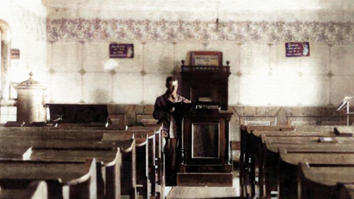 Id Stumpf Jenő katonaruháb ~ 1918-ban a munkácsi imaházban